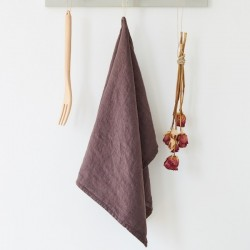 Linen Tales - Theedoek - Purple